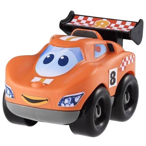 écoiffier abrick bouwpakket raceauto oranje 7-delig