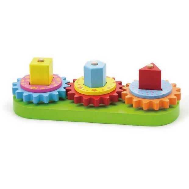 Viga Toys motoriekpuzzel geometrische vormen 28 cm multicolor