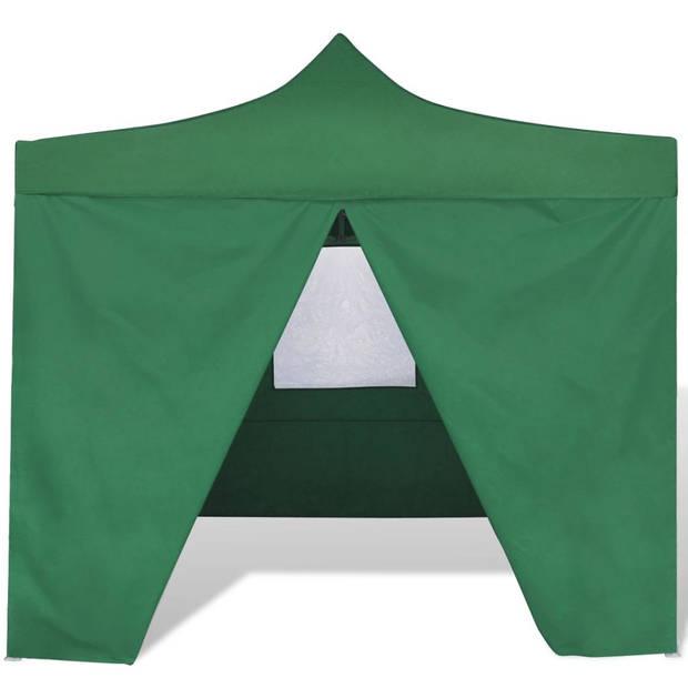 vidaXL Vouwtent met 4 zijwanden 3x3 m groen