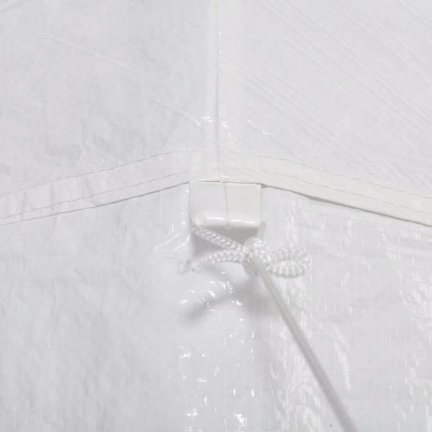 vidaXL Feesttent met 6 zijwanden 2x2 m wit