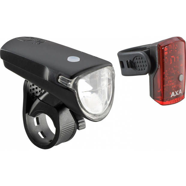 AXA verlichtingsset Greenline 35 batterij led zwart