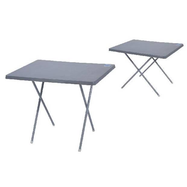 Van der Meulen vouwtafel 60x80 cm grijs