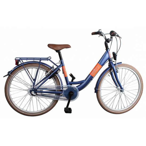 Bike fun blizz 20 inch 33 cm meisjes v-brake matblauw