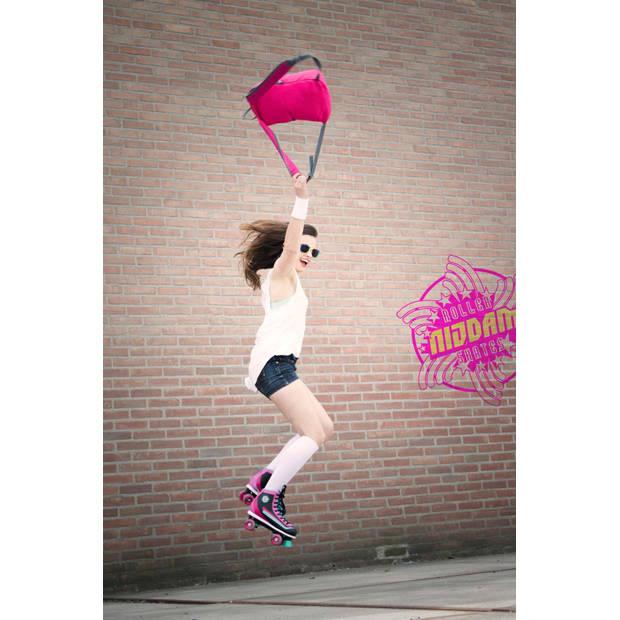 Nijdam rolschaatsen Retro Smash dames roze mt 38