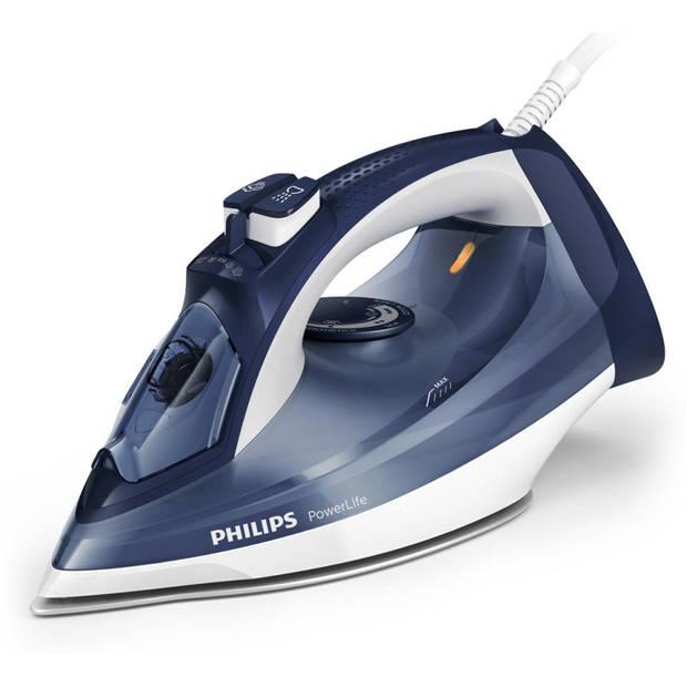 Philips stoomstrijkijzer PowerLife GC2994/20 - blauw/wit