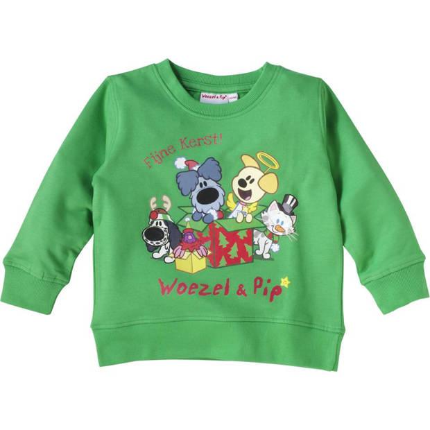 Woezel & Pip Kersttrui - maat 92-98 - groen