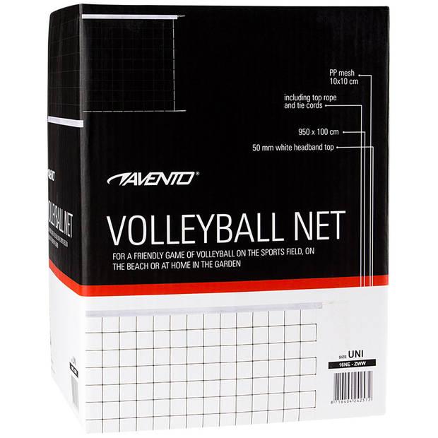 Avento volleybalnet - 9,5 x 1 m - zwart