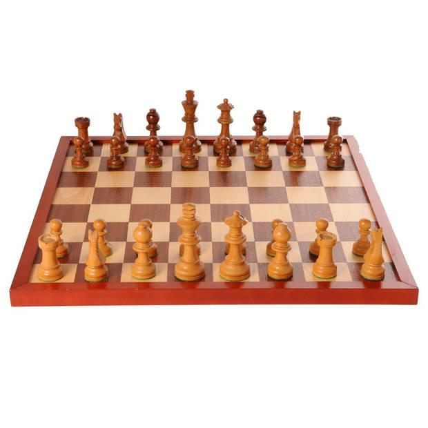 Schaak/dambord ingelegd - 42 cm