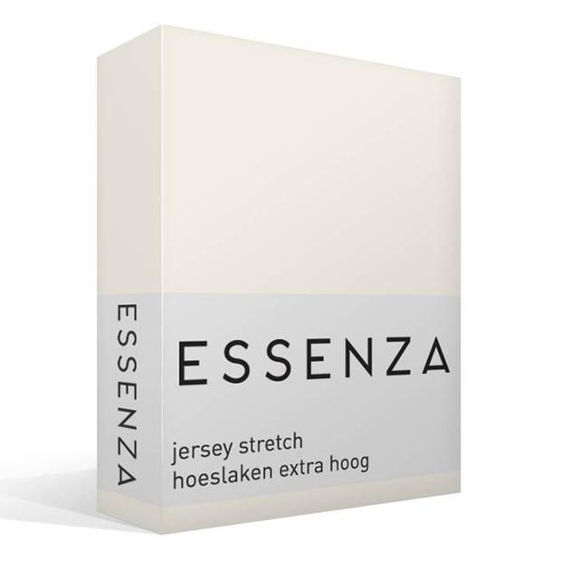 Essenza Premium jersey hoeslaken extra hoog - 97% gebreide katoen - 3% elastan - 1-persoons (90/100x200/220 cm) - Oyster