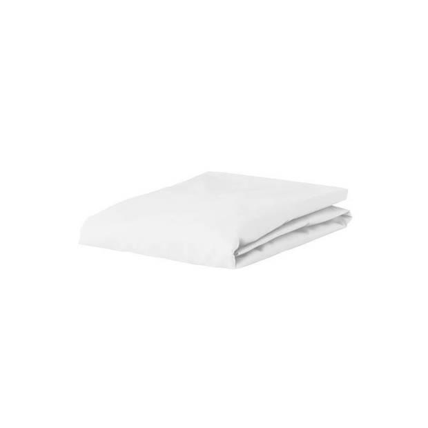 Essenza Premium jersey hoeslaken extra hoog - 97% gebreide katoen - 3% elastan - 1-persoons (90/100x200/220 cm) - White