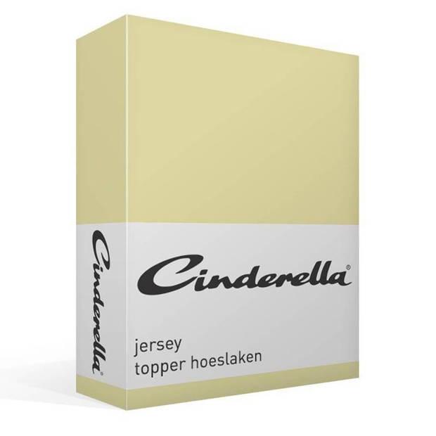 Cinderella jersey topper hoeslaken - 1-persoons (80/90x200/210 cm)