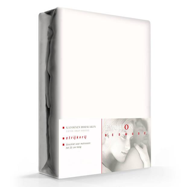 Hoeslaken Katoen Strijkvrij Ecru-80 x 200 cm