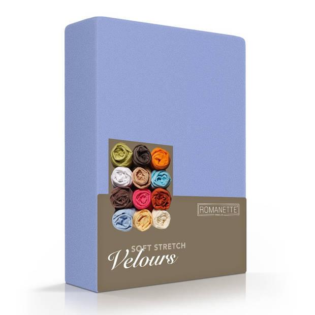Romanette Hoeslaken Velours Lavendel-80/90/100 x 200/210/220 cm