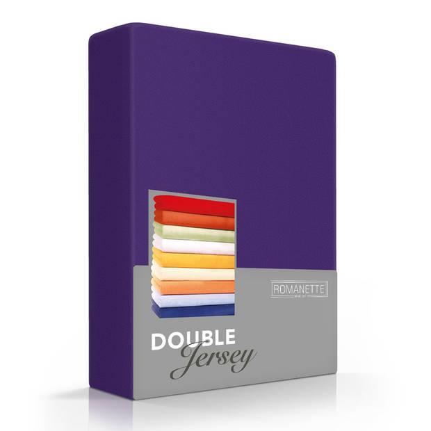 Romanette Hoeslaken Double Jersey Paars-80/90/100 x 200/210/220 cm