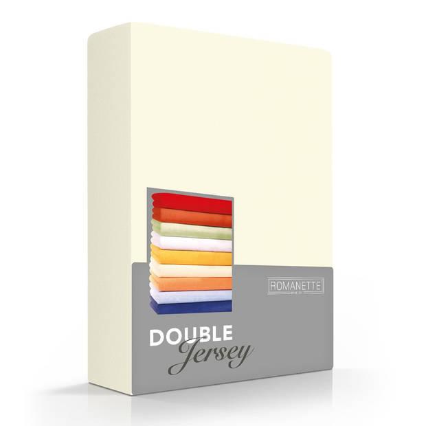 Romanette Hoeslaken Double Jersey Ivoor-80/90/100 x 200/210/220 cm