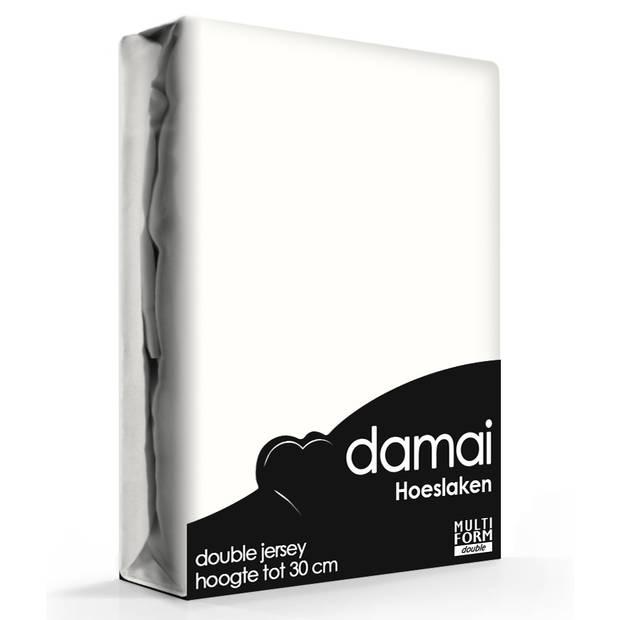 Damai Multiform Double Jersey Hoeslaken Ivoor-180 x 220 cm XL