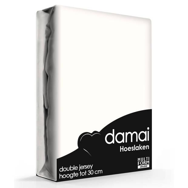 Damai Multiform Double Jersey Hoeslaken Wool White-180 x 220 cm XL