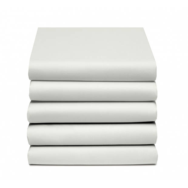 Damai Multiform Double Jersey Hoeslaken Wool White-80/90/100 x 200/220 cm