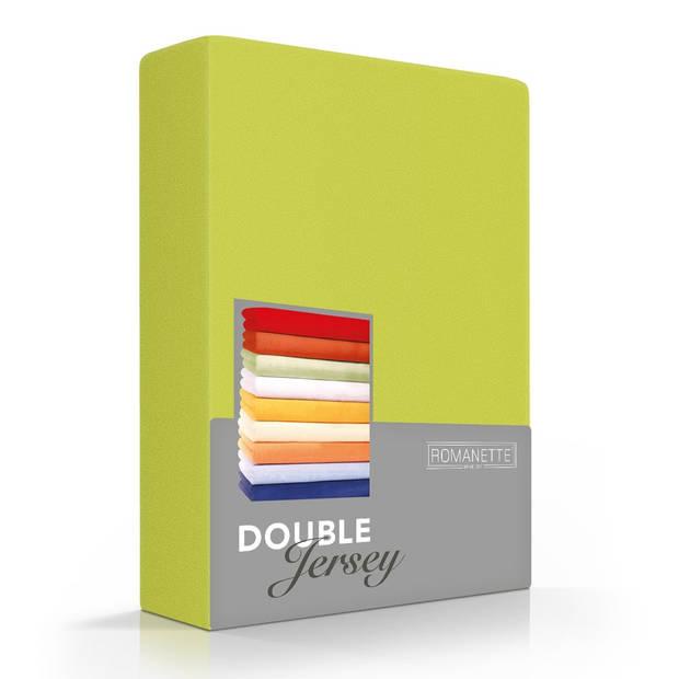 Romanette Hoeslaken Double Jersey Limoen-80/90/100 x 200/210/220 cm