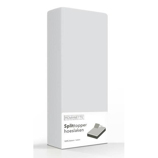 Split-Topper Hoeslaken Romanette Zilver-180 x 200 cm