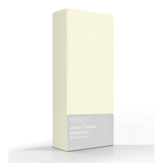 Topper Hoeslaken Romanette Jersey Ivoor-160/180 x 200/210/220 cm