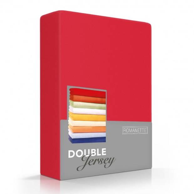 Romanette Hoeslaken Double Jersey Rood-160/180 x 200/210/220 cm