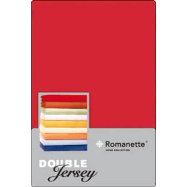 Romanette Hoeslaken Double Jersey Rood-80/90/100 x 200/210/220 cm