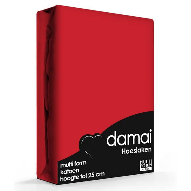 Hoeslaken Multiform Damai Rood (Katoen)-80/90 x 200/210 cm