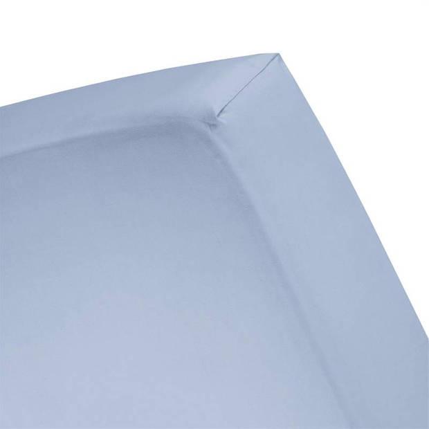 Cinderella basic percaline katoen hoeslaken - 100% percaline katoen - 1-persoons (80x200 cm) - Sapphire