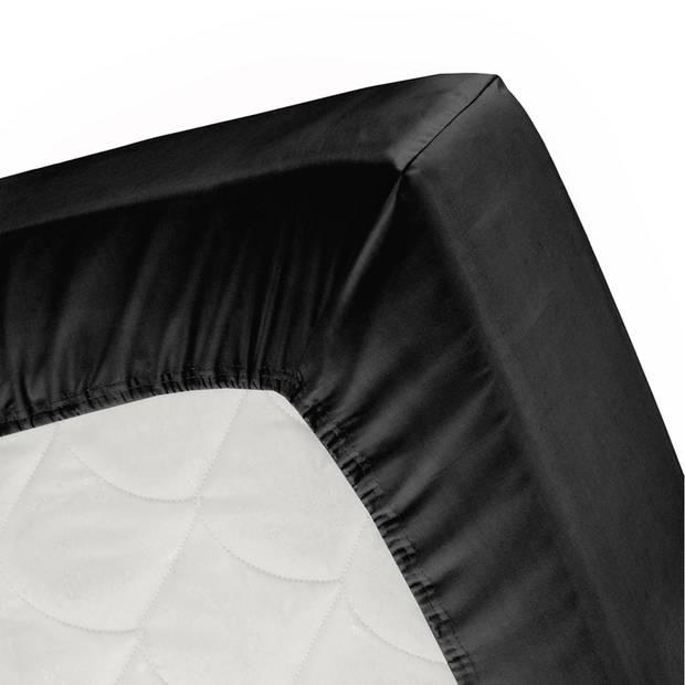 Cinderella jersey splithoeslaken black-160x200/210cm