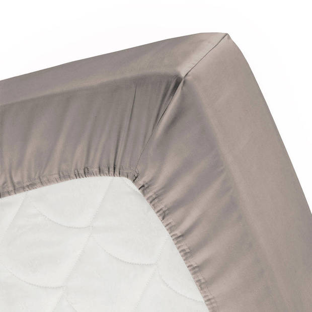 Cinderella jersey splithoeslaken taupe-200x200/210cm