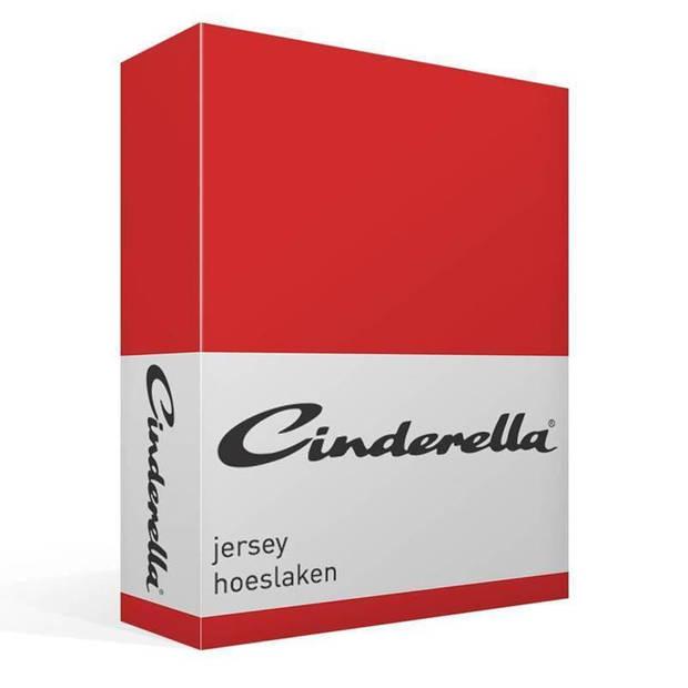 Cinderella jersey hoeslaken - 100% gebreide jersey katoen - 2-persoons (120x200 cm) - Red