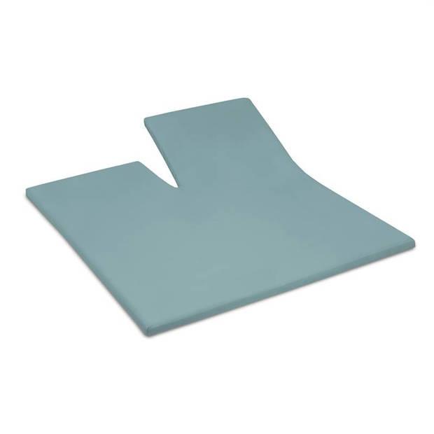 Cinderella jersey split-topper hoeslaken - 100% gebreide jersey katoen - Lits-jumeaux (180x200/210 cm) - Mineral