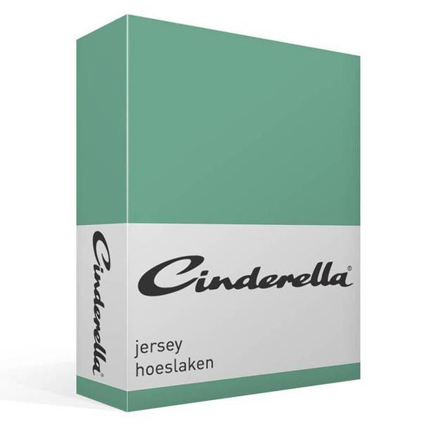 Cinderella jersey hoeslaken - 100% gebreide jersey katoen - Lits-jumeaux (180x200 cm) - Mineral
