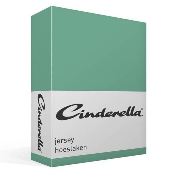 Cinderella jersey hoeslaken - 100% gebreide jersey katoen - Lits-jumeaux (160x200 cm) - Mineral