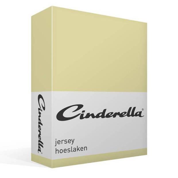 Cinderella jersey hoeslaken - 100% gebreide jersey katoen - Lits-jumeaux (180x210/220 cm) - Silversand