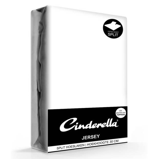 Cinderella jersey splithoeslaken white-180 x 200/210 cm