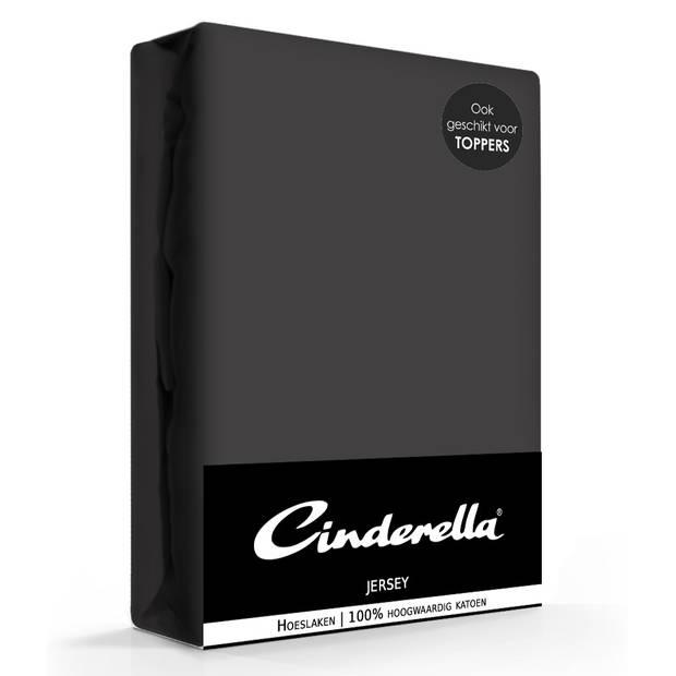 Cinderella Jersey Hoeslaken Antracite-90 x 210/220 cm