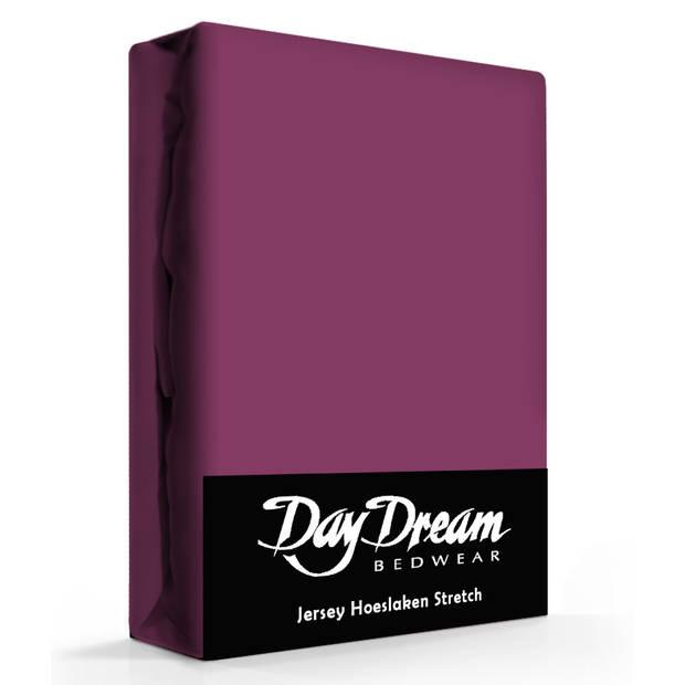 Day Dream Jersey Hoeslaken Blackberry-190 x 220 cm
