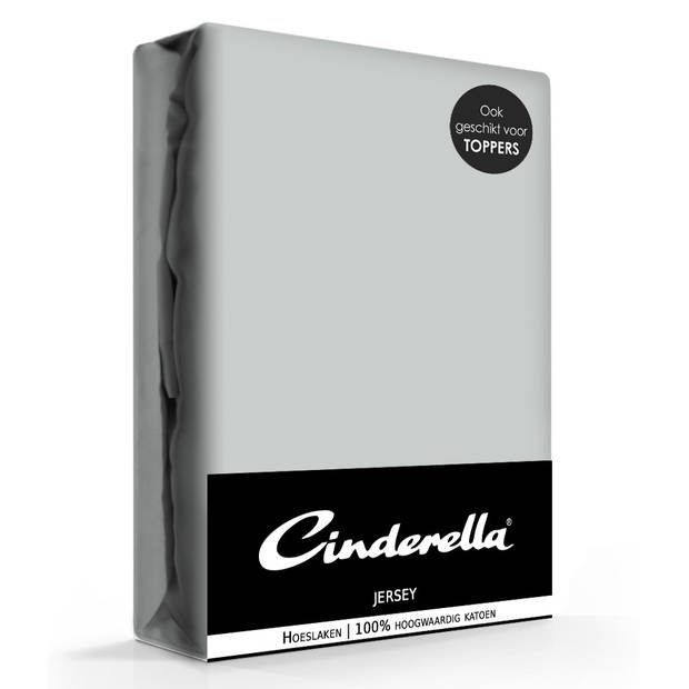 Cinderella jersey hoeslaken light grey-200 x 210/220 cm