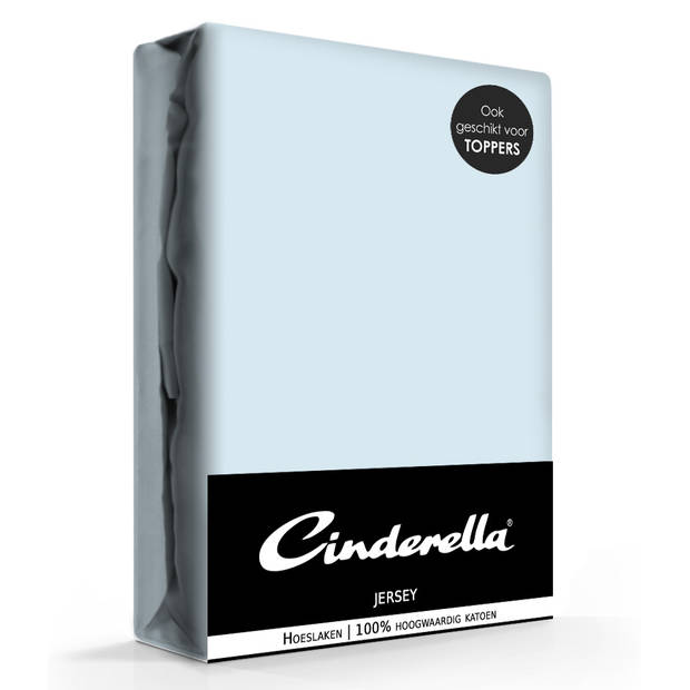 Cinderella jersey hoeslaken sky blue-160 x 210/220 cm