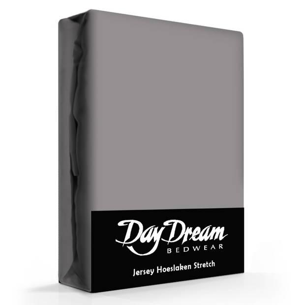 Day Dream Jersey Hoeslaken Donkergrijs-190 x 220 cm