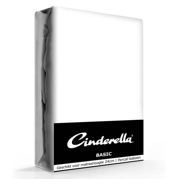 Cinderella Basic Hoeslaken White-140 x 200 cm