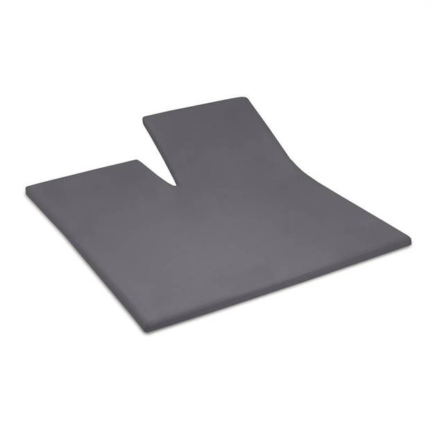 Cinderella jersey split-topper hoeslaken - 100% gebreide jersey katoen - 2-persoons (140x200/210 cm) - Anthracite