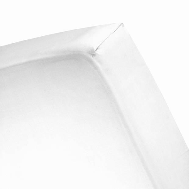 Damai/Nightkiss Topper Hoeslaken Katoen Wit (15cm)-180 x 220 cm