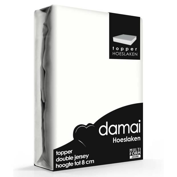 Damai Multiform Double Jersey Topper Hoeslaken Wool White-180 x 200/210 cm