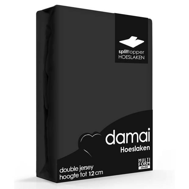 Damai Multiform Double Jersey Splittopper Zwart-160x200/210cm