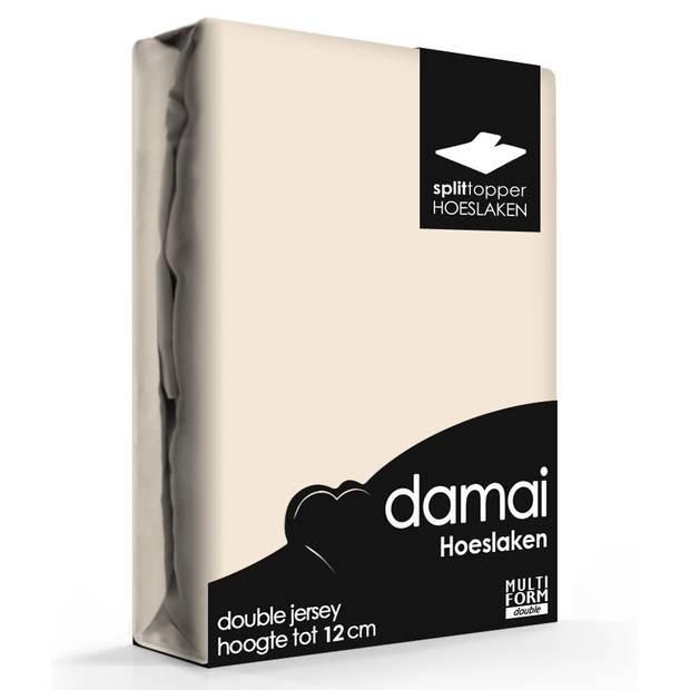 Damai Multiform Double Jersey Splittopper Taupe-160x200/210cm