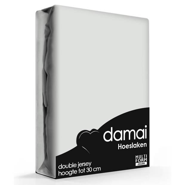 Damai Multiform Double Jersey Hoeslaken Light Grey-80/90 x 210/220 cm