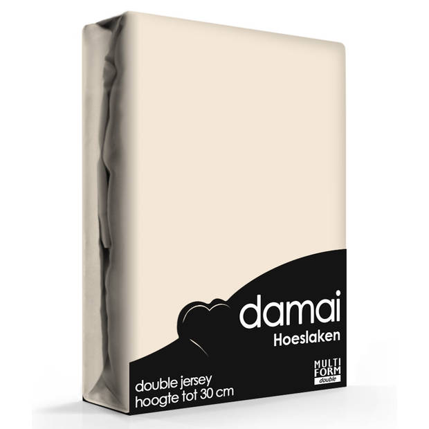 Damai Multiform Double Jersey Hoeslaken Taupe-180 x 220 cm XL
